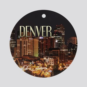 Denver Colorado Ornament (Round)