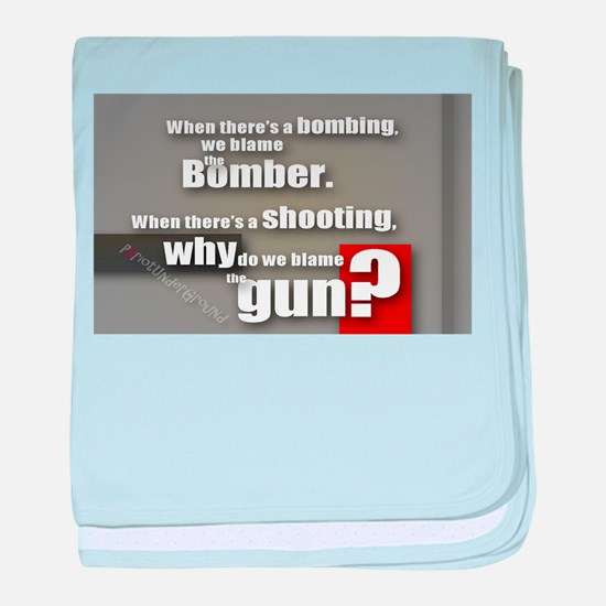 Blaming the gun? baby blanket