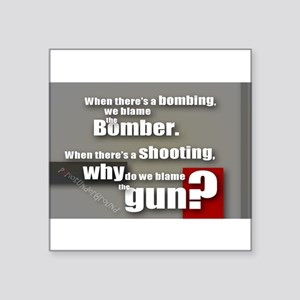 Blaming the gun? Sticker