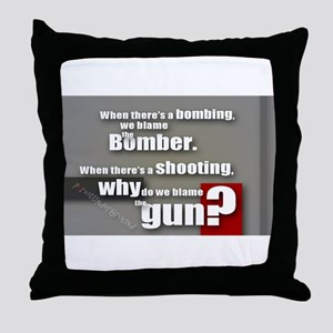 Blaming the gun? Throw Pillow