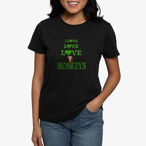 Love Love Monkeys Women's Dark T-Shirt