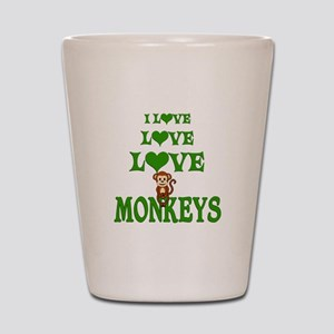 Love Love Monkeys Shot Glass