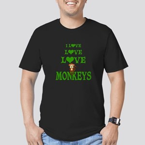 Love Love Monkeys Men's Fitted T-Shirt (dark)