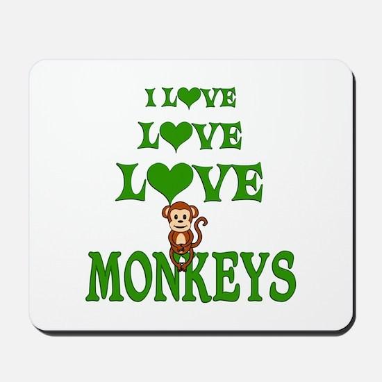 Love Love Monkeys Mousepad