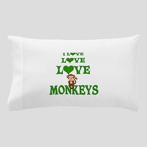 Love Love Monkeys Pillow Case