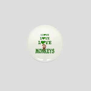 Love Love Monkeys Mini Button