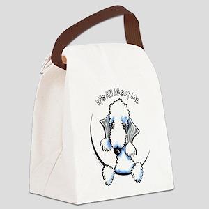 Bedlington Terrier IAAM Canvas Lunch Bag