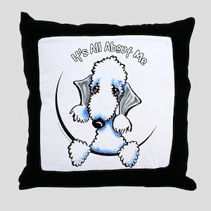 Bedlington Terrier IAAM Throw Pillow
