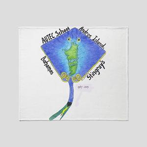 AUTEC School Stingrays Throw Blanket