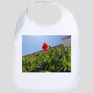 Red Poppy Flower Style 1 Bib