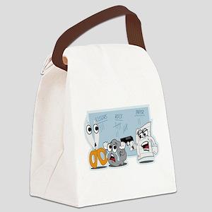 Rock Paper Scissors Canvas Lunch Bag