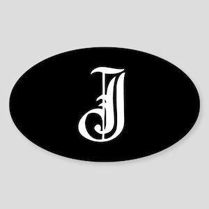 Gothic Initial J Sticker
