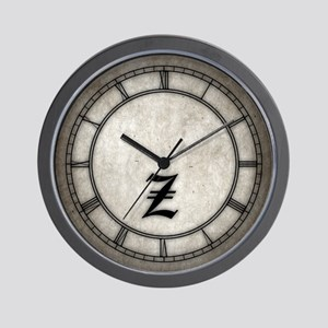 Gothic Initial Z Wall Clock