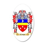 Campa 20x12 Oval Wall Decal