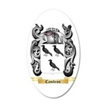 Cambron 20x12 Oval Wall Decal