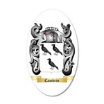 Cambrin 35x21 Oval Wall Decal