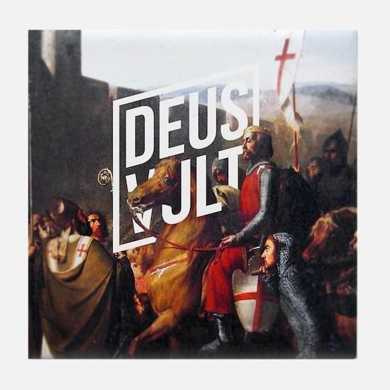 Cute Deus Tile Coaster