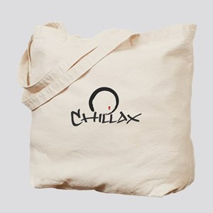 Chillax with Enso Open Circle Tote Bag