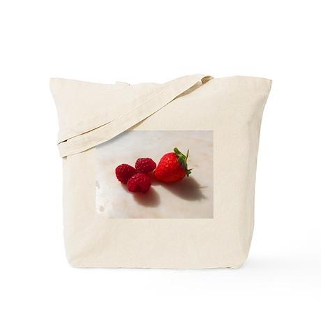 Strawberry Raspberries Tote Bag