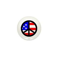 Peacesign Flag Mini Button (100 pack)