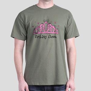 Tiara Birthday Queen Dark T-Shirt