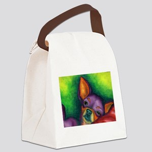 Lazy Chihuahua Canvas Lunch Bag