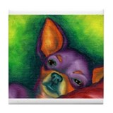 Animal chihuahua Tile Coasters
