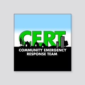 "Cert Square Sticker 3"" X 3"""