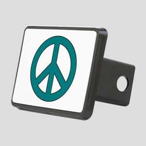 Teal Peace Sign Hitch Cover