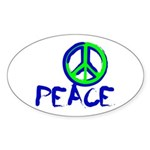 Peace Sign Sticker (Oval)