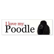 Poodle Love Bumper Sticker