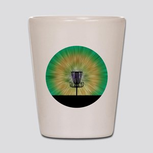 Tie Dye Disc Golf Basket Shot Glass