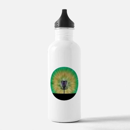 Tie Dye Disc Golf Basket Water Bottle
