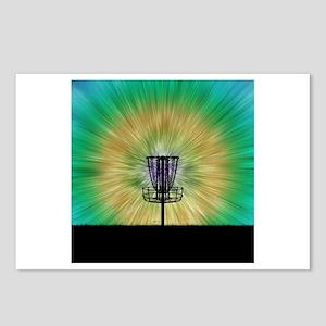 Tie Dye Disc Golf Basket Postcards (Package of 8)