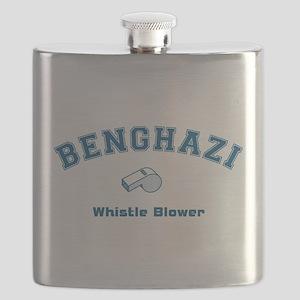 Benghazi Whistle Blower Blue Flask