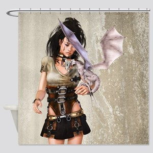 Dragon Lady Shower Curtain