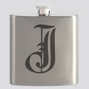 Gothic Initial J Flask
