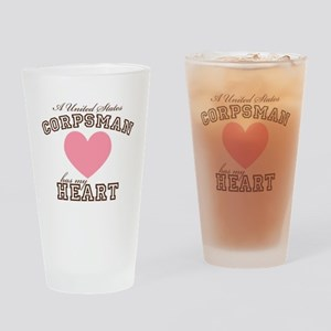 A United States Corpsman has Drinking Glass