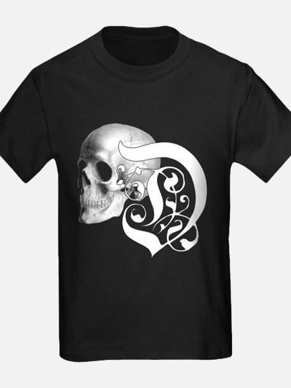 Gothic Skull Initial D T-Shirt