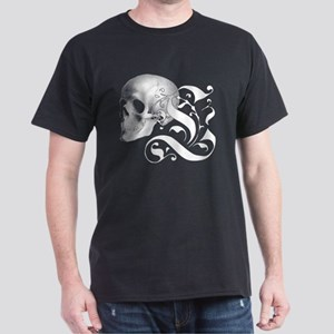 Gothic Skull Initial L T-Shirt
