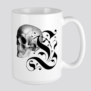 Gothic Skull Initial L Mug