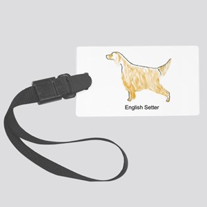 Orange Belton English Setter Luggage Tag