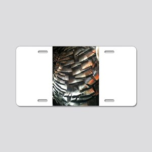 Turkey Feathers Aluminum License Plate