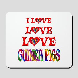 Love Love Guinea Pigs Mousepad