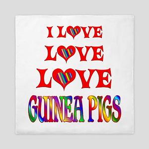 Love Love Guinea Pigs Queen Duvet
