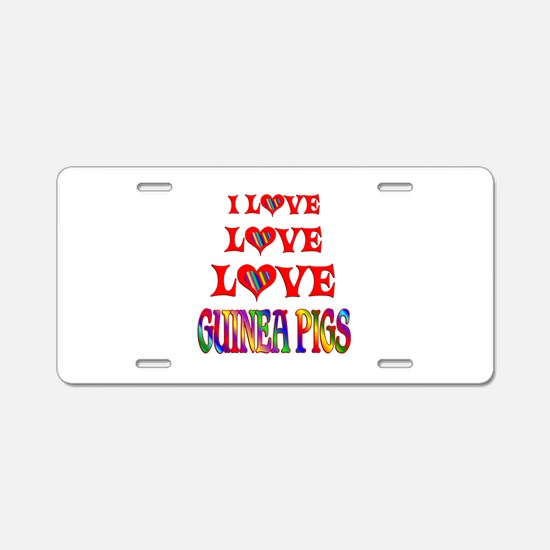 Love Love Guinea Pigs Aluminum License Plate