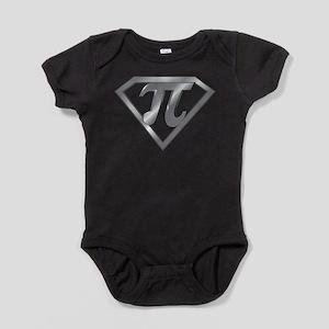 Super Pi 3D Gray2 Baby Bodysuit