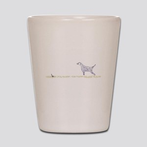 Blue English Setter on Chukar Shot Glass