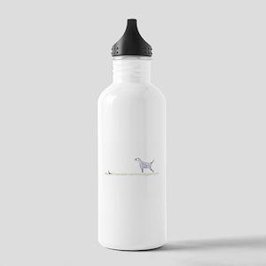 Blue English Setter on Chukar Stainless Water Bott