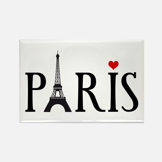 Paris with Eiffel tower and red heart Rectangle Ma